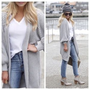 {Anthro} Knitted & Knotted Kya Ribbed Cardigan S